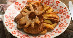 Egyszerű cigánypecsenye recept képpel. Hozzávalók és az elkészítés részletes leírása. A Egyszerű cigánypecsenye elkészítési ideje: 45 perc Apple Pie, Hummus, Waffles, French Toast, Pork, Cooking Recipes, Breakfast, Ethnic Recipes, Desserts