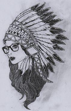 indian headdress tattoo cocar drawings drawing sketches tatuagem desenhos easy projetos cartoon tattoos projects tatuagens indigena indianas tatoo