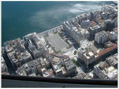 Aristotelous Sq Thessaloniki capital of the Macedonian region of northern Greece from above
