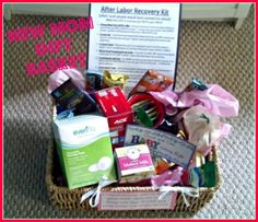 new mom gift basket I will have to remember this for my friends also having babies
