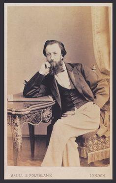 Albumen print of the designer Christopher Dresser, mounted on a card