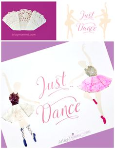 Ballerina Doily Craft - Printable Dance Poster