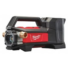 While you're shopping for utility pumps, you might also be interested in our wide selection of submersible sump pumps and backup sump pumps. Here are some important details for Milwaukee Cordless Transfer Pump. Cool Tools, Diy Tools, Handy Tools, Milwaukee M18, New Milwaukee Tools, Plumbing Tools, Plumbing Problems, Cordless Tools, Insulation Materials