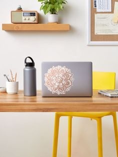 """""""Rose Gold Mandala Flower"""" Sticker by julieerindesign 