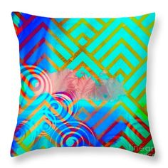Abstract Throw Pillow featuring the digital art Veil by Caroline Gilmore