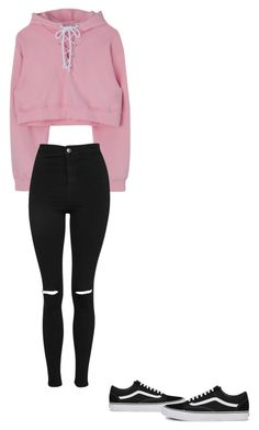 """Normal look"" by animallover0329 on Polyvore featuring Topshop and Vans"
