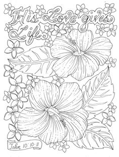 Scripture Garden Coloring Book Christian Coloring by ChubbyMermaid