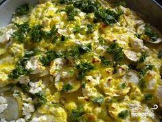 Кабачки с яйцом