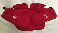 Valentine's Day Hand Holding Together Mittens Couples Red Snowflake Love Winter #TogetherMittens #WinterGloves #ValentinesDay