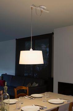 Lámpara de techo FUSTA blanca ambiente 3