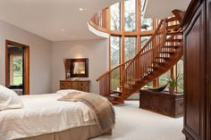 LOVE the idea of a two-story bedroom!! Spiral staircase <3