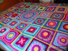 BETTY'S COLOR LIST! Betty's Blanket Crochet Afghan Block a Week CAL 2014