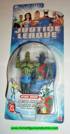 justice league unlimited MARTIAN MANHUNTER attack armor moc mip mib dc universe jlu dcu mattel new