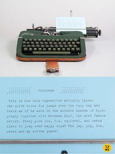Rare 1952 Princess Typewriter in green! Mid century.