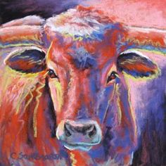 Longhorn  Longhorn Best known for her expressionistic and soulful animal paintings, Santora works in acrylic and soft pastel, and her styles are equally diverse. Santora employs the drip-painting method of the abstract expressionists in her acrylic paintings on canvas and board. Her pastels are intimate close-ups of animals that employ bold strokes of pastel, the emotion of color and the beauty of form. Both media express her passion for animals in different ways. Primarily painting ..
