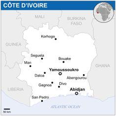 Location of Ivory Coast