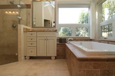 Frameless Shower Enclosure Master Bath - On Time Baths