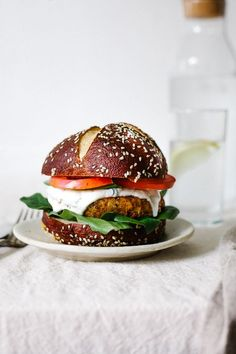 Vegan Cajun Chickpea Burger