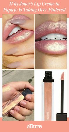 Gold might not be the most obvious lip color, but according to Pinterest, it's one of the most popular color trends right now. Searches have increased 29 percent, with Jouer Lip Creme in Papaye basically taking over the Pinterest feed of all makeup lovers.