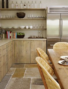 Antique Dalle de Bourgogne, genuine antique limestone flooring and surfacing stone from the Bourgogne region of France.