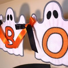 Looking for a gorgeous project for Halloween? Introducing...    GHOST BANNER ITH Project by Big Dreams Embroidery.    Perfect for Halloween. Add letters and numbers from your embroidery machine to personalize! This is a quick and easy two-sided banner all done in the hoop with step-by-step instructions to guide you. You are hooping stabilizer only, appliquéing your fabric and font/designs over the top, applying backing fabric behind your hoop, finishing the edges and ribbon holes and cut...
