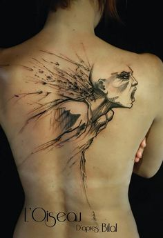 L'Oiseau, Belly Button Tattoo Shop | Perpignan France - Adaptation of art by…