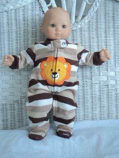 Bitty Baby Boy footed Pajamas. $13.00, via Etsy.