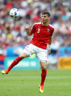 Aleksandar Dragovic of Austria in action during the UEFA EURO 2016 Group F match between Iceland and Austria at Stade de France on June 22, 2016 in Paris, France.
