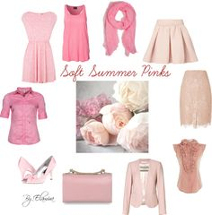 """""""Soft Summer pinks"""" by sabira-amira ❤ liked on Polyvore"""