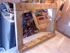 wooden mirror with shelf - Google Search