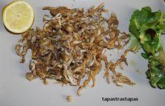 Sonsos fritos. Pescaditos fritos, probados en Girona.