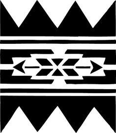 STENCIL Native American Wall Border No 223 10x8.7