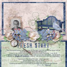 Fresh Start 1 12x12 Layout Templates