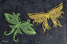 Поделка изделие Вырезание Цветные бабочки Бумага фото 6