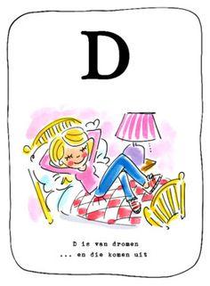Alfabetkaart, D is van dromen- Greetz
