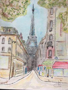 Paris Tour Eiffel 24 x 32 cm Contact : jalluc62@gmail.com
