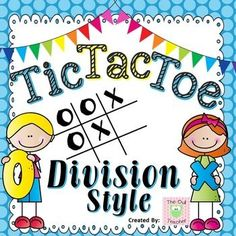Division Fact Fluency Tic Tac Toe Task Card Game is a fun partner game for students to practice their facts!  $