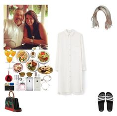 """Lunch with Anne and Robin.(Harry's BF)"" by asma-d ❤ liked on Polyvore featuring MANGO, adidas, Gucci, She's So, Christian Dior, Nails Inc., Fendi, Tiffany & Co., Yves Saint Laurent and Cartier"