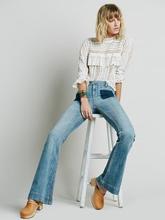 Dittos Joan High Rise Flare at Free People Clothing Boutique