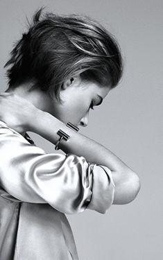 Céline bracelet, short hair