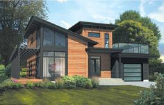 Timber Block Homes is featuring the most requested home floor plans so far in The most loved home so far in 2019 from our Contemporary Series is the Monterey. The Monterey is 1567 sq., has 2 bedrooms, baths, a single car garage, fabulous larg Contemporary House Plans, Modern House Plans, Contemporary Architecture, Modern House Design, House Floor Plans, Sustainable Architecture, Modern Farmhouse Exterior, Modern Home Exteriors, Farmhouse Small