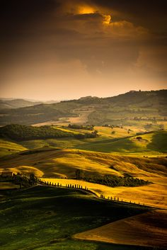"""Val d'Orcia again - Beatuful sunset on the """"Val d'Orcia terrace"""", Pienza (SI) Itay"""