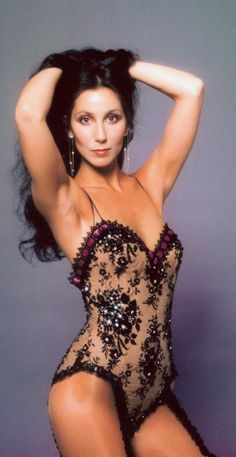 Cher 1970's photo shoot by Harry Langdon