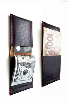 Leather Art, Leather Design, Best Wallet, Slim Wallet, Wallet Pattern, Minimalist Wallet, Leather Projects, Leather Accessories, Leather Working