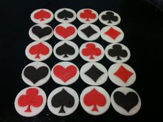 50 PC Fondant Casino Poker Chips  Cake Cupcake Cookie Topper - Any 2 Color. $49.95, via Etsy. #money #poker