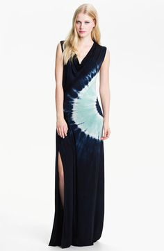 Maxi dress with a tye dye side piece... love this.. after I lose another 25 lbs