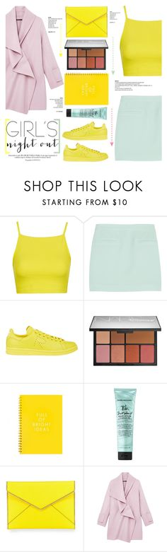 """""""No 309:Girl's Night Out,Beauty Edition"""" by lovepastel ❤ liked on Polyvore featuring Topshop, T By Alexander Wang, adidas, NARS Cosmetics, Bumble and bumble, Rebecca Minkoff, Vince and GNO"""