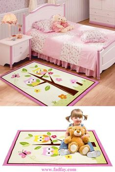 Home Textile,Unique Cartoon Owl Carpet,Designer Pink Fairy Girls Rug for Living Room,Delicate Butterfly Kids Rug Material:High quality nylon yarn. The environmental protection activity of printing and dyeing,not to drop hai Owl Rug, Girls Rugs, Butterfly Kids, Owl Cartoon, Vestibule, Cute Owl, Carpet Design, Corridor, Home Textile