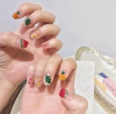 Best Picture For korean beauty secrets For Your Taste You are looking for something, and it is going Nail Design Stiletto, Nail Design Glitter, Korean Nail Art, Korean Nails, Pastel Nails, Acrylic Nails, Love Nails, Pretty Nails, Japan Nail Art