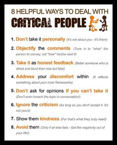 Dealing with critical people